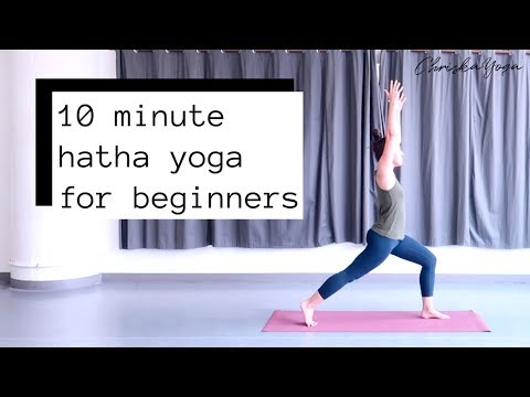 10 Min Hatha Yoga for Beginners | Beginners Yoga Routine | ChriskaYoga