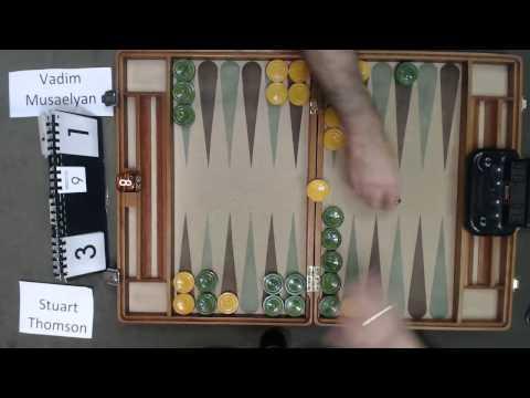 Carolina Backgammon R4 Stuart Thomson v Vadim Musaelyan