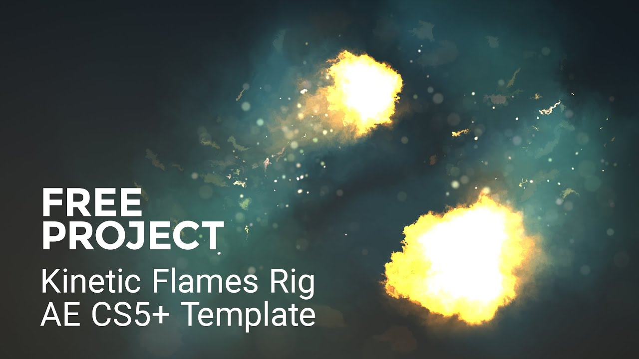 Free Kinetic Flame - After Effects Freebie