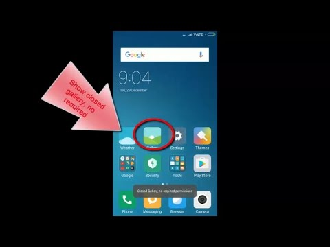[FIXED] redmi 3s gallery not opening or closed gallery no required permission