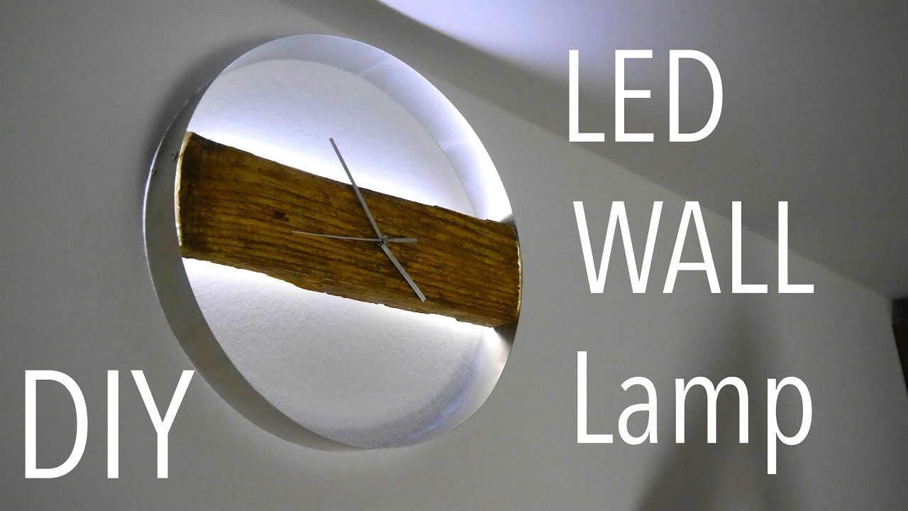 diy wood clock led wand uhr tutorial anleitung youtube. Black Bedroom Furniture Sets. Home Design Ideas