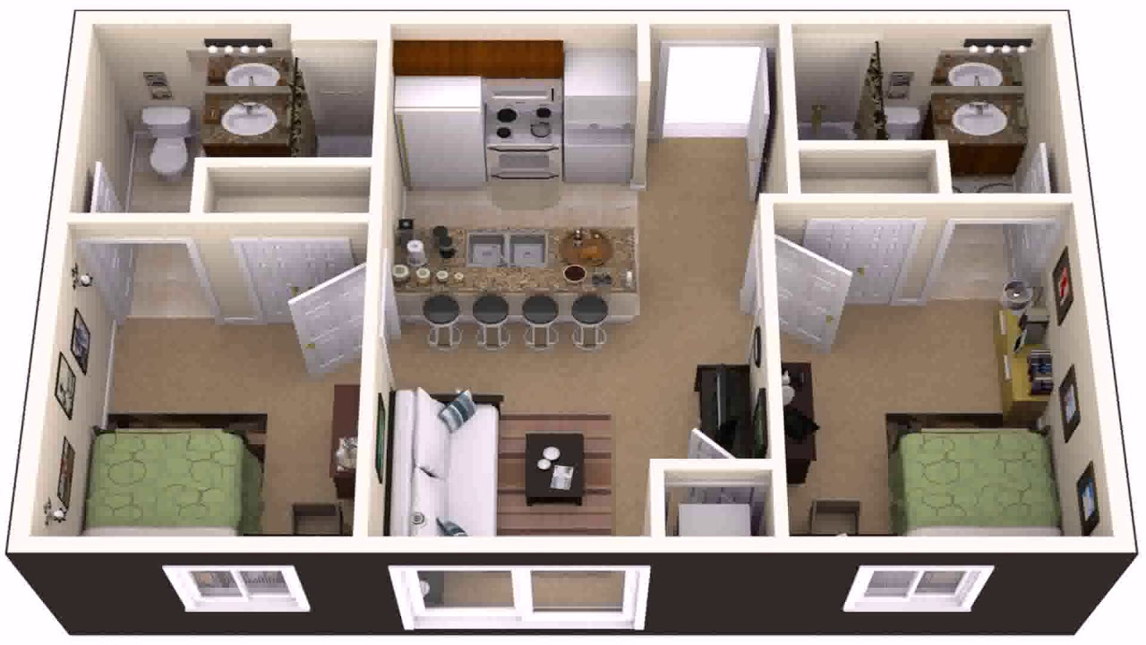 House plans 2 bedroom basement apartment youtube for House plans with basement apartment