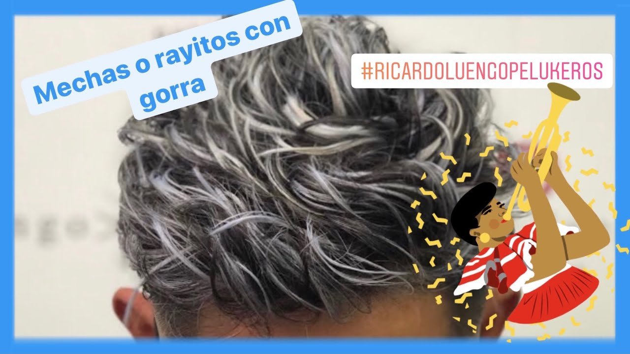 Mechas O Rayitos Con Gorro De Negro A Plata Nuevo Decolorante Tempting Paso A Paso Y Tempting Youtube