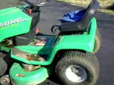 john deere lawn mower ignition switch wiring diagram h s sabre 13 horsepower hp briggs and stratton 38 deck 5 speed youtube