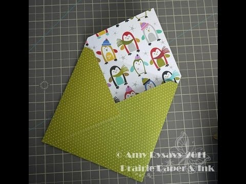 Making An Envelope For A Square Card Youtube
