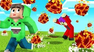 DODGE The FIREBALL RAIN Or DIE! (Minecraft)