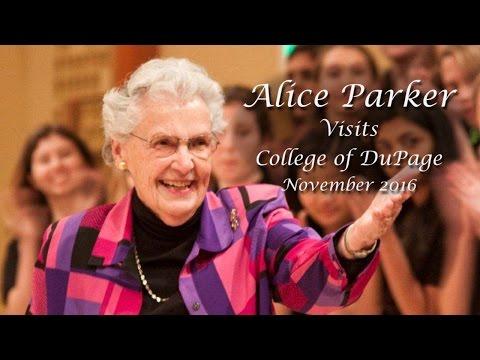 Alice Parker Visits College of DuPage