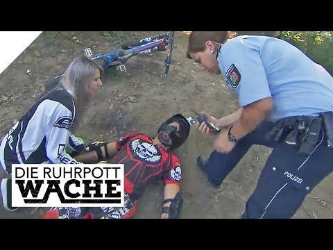 Neid auf Mountainbike-Profi? - Wieso stürzt er so brutal?   Die Ruhrpottwache   SAT.1 TV