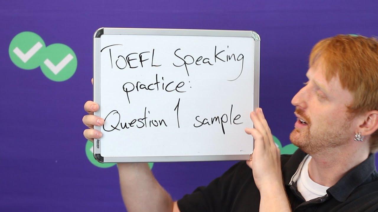 TOEFL Tuesday: TOEFL Speaking Sample Answer, Task 1 - YouTube