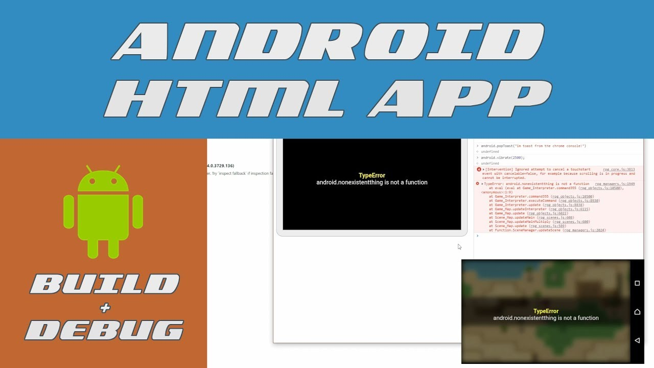 How To Build & Debug (on Android) in 1 minute!! | RPG Maker