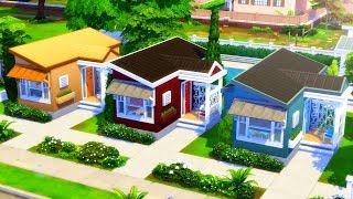 SOLID COLOR TINY HOMES // Sims 4 Speed Build