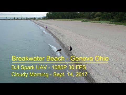 DJI Spark - Breakwater Beach - Geneva, OH (1080P  9-14-17)