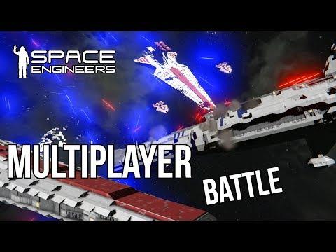 FULLY CREWED VENATOR vs PROVIDENCE - Clone Wars Battle - Space Engineers