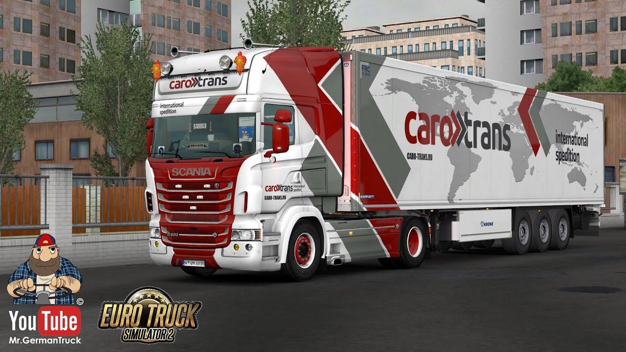 [ETS2 v1.36] Scania RJL + Krone Coolliner CaroTrans *SkinWork*