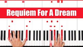 Requiem For A Dream Piano Tutorial - SLOW HARD