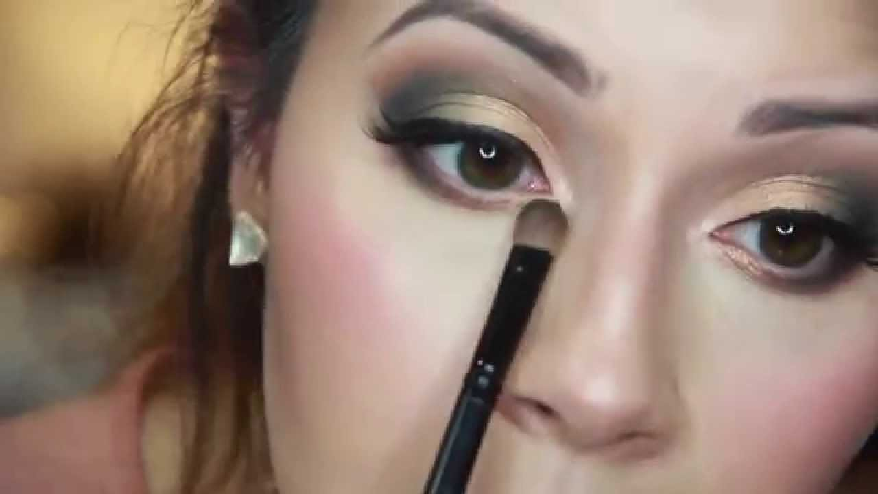 green & gold smokey eye makeup tutorial - youtube