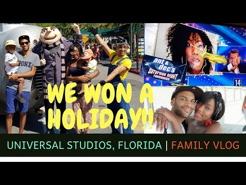 We won a holiday to Universal Studios Florida with Ant and Dec