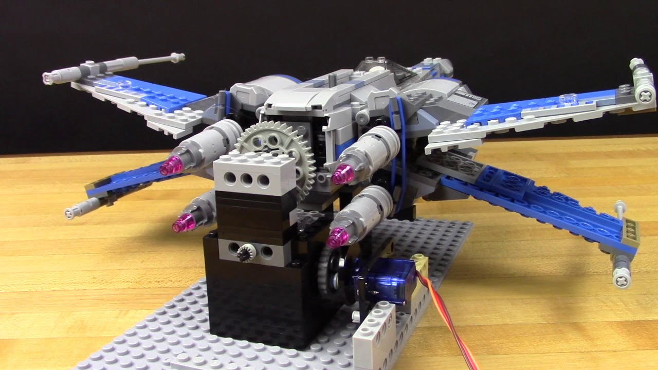How To Automate A Lego X Wing Youtube 75102 Star Wars Poeamp039s Fighter
