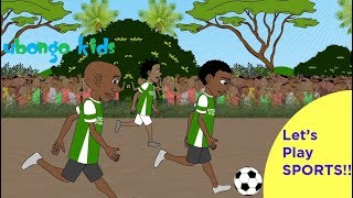 Die Besten Sport-Szenen aus Ubongo Kinder   Positiv Schwarz-Cartoons für Kinder