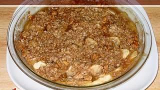 Apple Oats Crumb Pie Recipe By Manjula