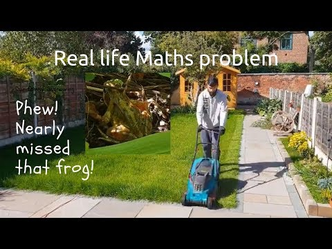 Real life Maths Problem | area & electricity cost| Spot the frog!