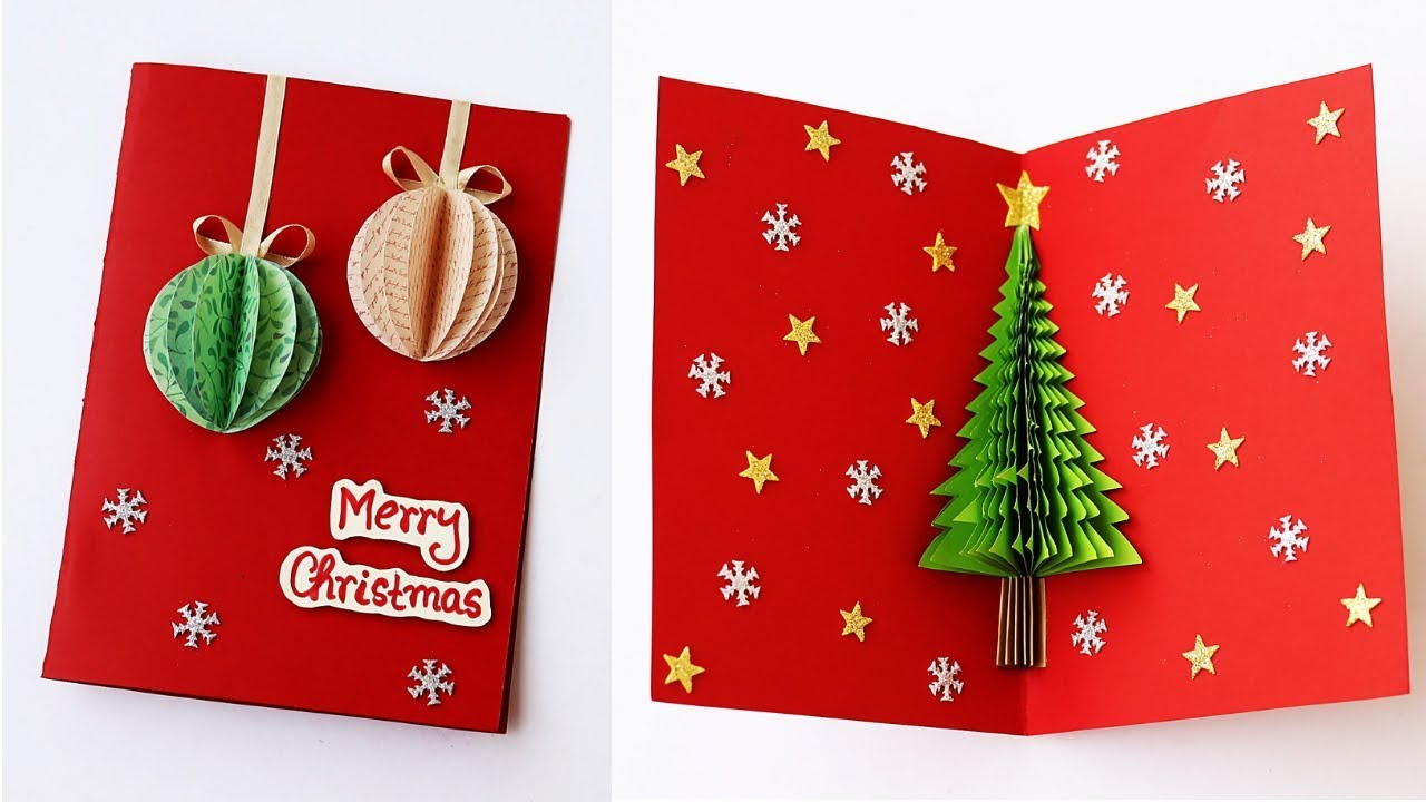 3-D Pop-Up Christmas Card with Pop-up Christmas Tree