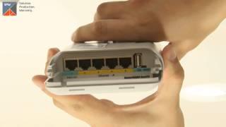 Видеообзор Wi-Fi маршрутизатора MikroTik OmniTIK UPA-5HnD