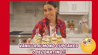 VLOGMAS | DAY 20 : VANILLA ALMOND CUPCAKES !! || Asia Monet