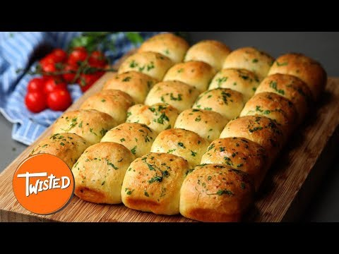 How To Make Lasagna Stuffed Garlic Dough Balls | Party Appetizers | Twisted