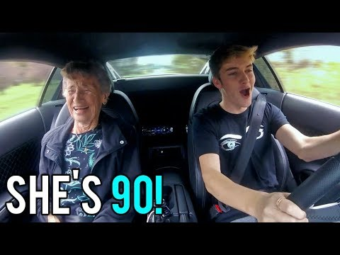 GREAT GRANDMA'S FIRST TIME IN A SUPERCAR! *REACTION*