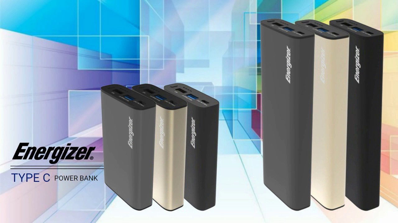 Energizer® Type C & Quick Charge 3 0 Power Bank (UE10013CQ_UE20100CQ)