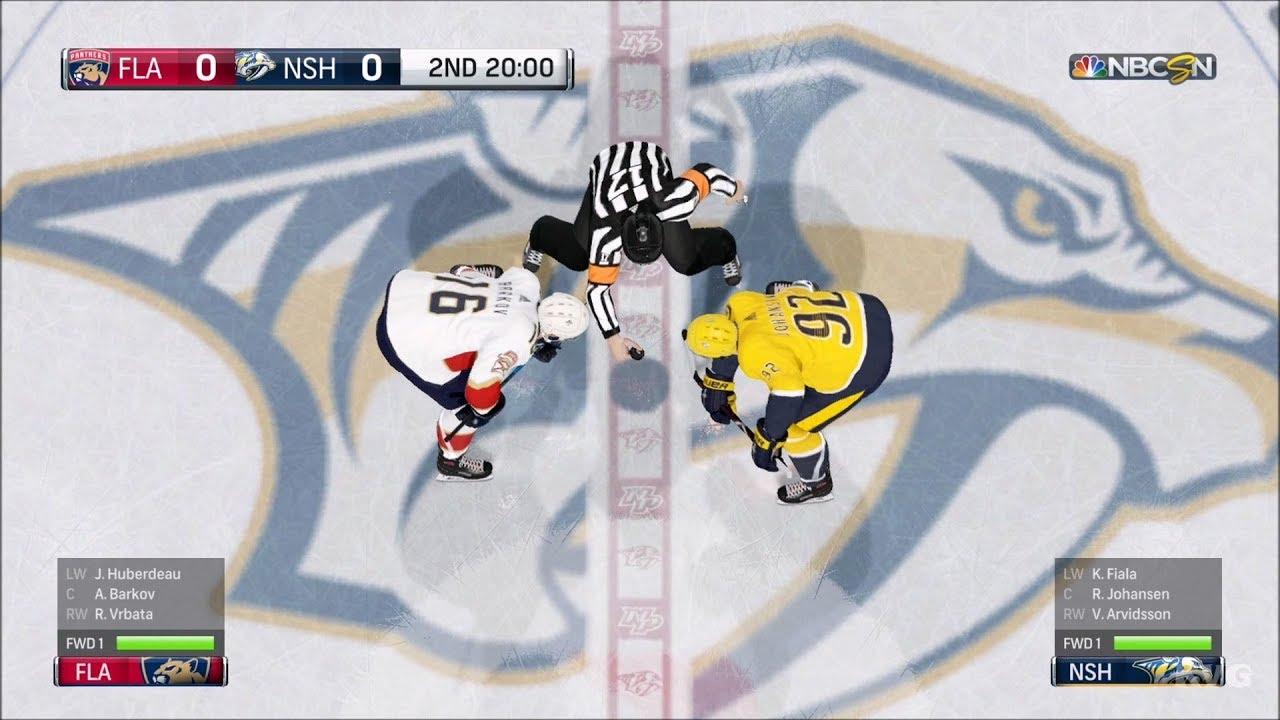 NHL 18 - Nashville Predators vs Florida Panthers - Gameplay (HD)   1080p60FPS  1d8fbb8ce216