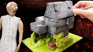 Making GRANNY FULL MINIATURE HOUSE in Polymer Clay!