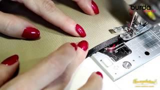 Швейная машинка  Урок 10 работа с косой бейкой 1