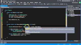 This screencast shows how to use LINQ to query XML data. See more a...