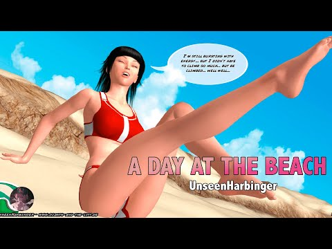 Download Janine (A Day at the Beach) - Giantess Comic   MrGiantess
