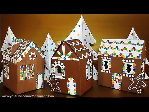 DIY Cardboard House & Trees   Recycled Crafts Ideas   Winter Crafts For Kids
