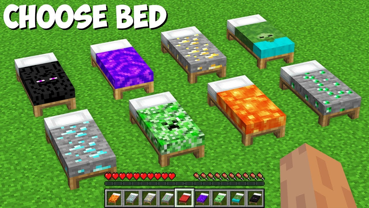 Which BED IS IT DANGEROUS TO SLEEP ON in Minecraft ? LAVA OR CREEPER OR DIAMOND MAYBE ZOMBIE ?
