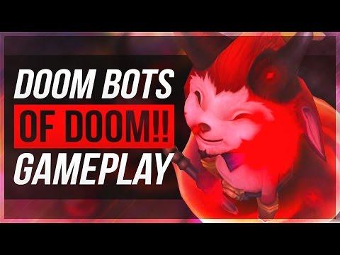 DOOM BOTS OF DOOM GAMEPLAY! - Huge Devil Teemo Boss!! - League Of Legends