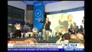 """Candidatos en Uruguay cierran campañas con promesas de """"nueva política"""" o """"mayor progreso"""""""