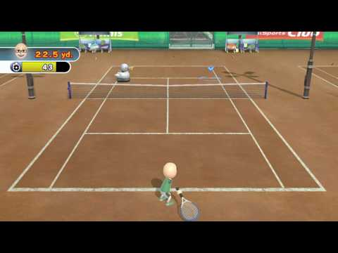 TENNIS TRAINING: RUNNER DUCKY ~ Wii SPORTS CLUB - No Commentary