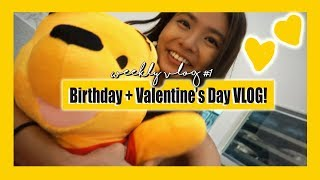 Weekly Vlog #1 | Birthday week + I cooked for Valentine's Day!