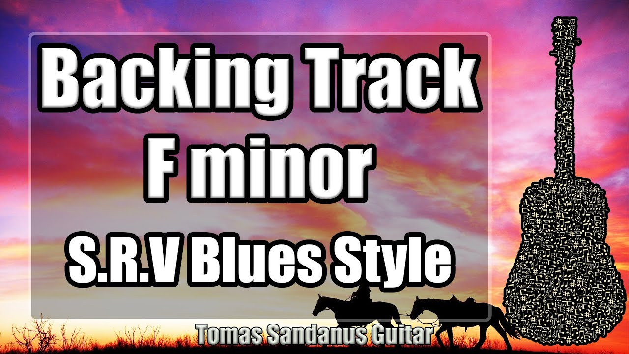Stevie Ray Vaughan Style Backing Track in F minor - Fm
