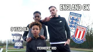 9 YEAR OLD KID vs ENGLAND GOALKEEPER!