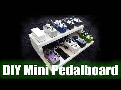 DIY mini pedalboard from scrap plywood