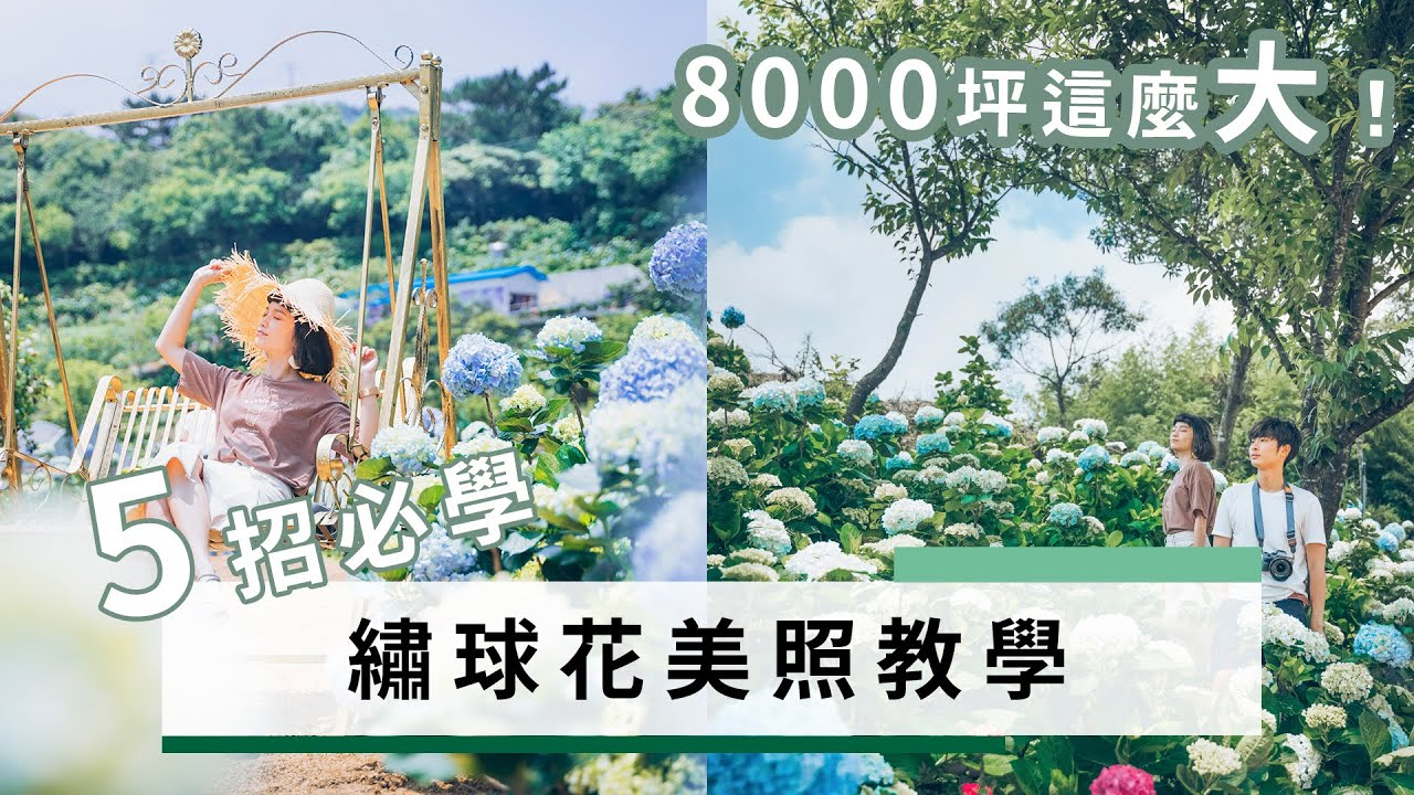 繡球花5招美照技巧 ! 8000坪大的花園 ?! 我們來了! |大包小包不在家