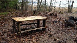 Как сделать стол на стоянке туриста своими руками / Лесная мебель /  Заметки Sekretmastera