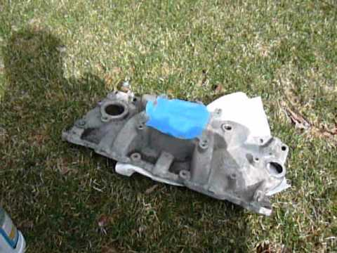 Aluminum Intake Manifold Refinishing Part 2 of 3