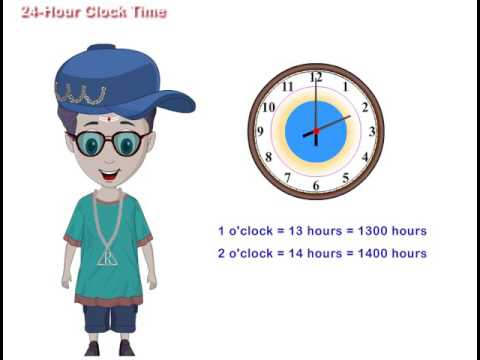 24 Hour Clock Time - YouTube