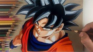 Drawing goku new form ultra instinct limit breaker - Goku ultra instinct sketch ...